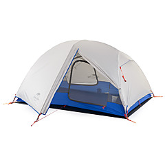 billige Telt og ly-Naturehike 2 personer Telt Dobbelt camping Tent Utendørs Turtelt Bærbar Ultra Lett (UL) Ultraviolet Motstandsdyktig Regn-sikker til