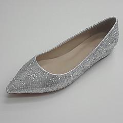 Damen-Hochzeit Schuhe-Hochzeit Büro Party & Festivität-Kunststoff Glanz-Flacher Absatz-Ballerina-