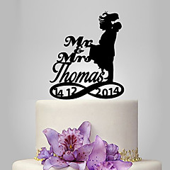 billige Kakedekorasjoner-Kakepynt Personalisert Klassisk Par Akryl Bryllup Jubileum Utdrikkingslag Hage Tema Klassisk Tema OPP