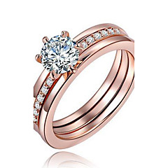 ステートメントリング 指輪 婚約指輪 クリスタル ファッション あり 欧米の 銅 銀メッキ ゴールドメッキ 円形 シルバー ローズゴールド ジュエリー のために 結婚式 パーティー 誕生日 婚約 日常 カジュアル クリスマスギフト 1個
