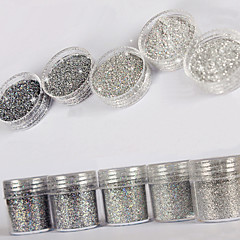 10ml yüksek flaş parıltılı payetler elmas süper ince gümüş tırnak süsleme sanatları için dekorasyon tırnak cilası