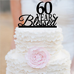 Taarttoppers Gepersonaliseerd acryl Bruiloft Trouwdag Bruidsshower Verjaardag Tuin Thema Klassiek Thema OPP
