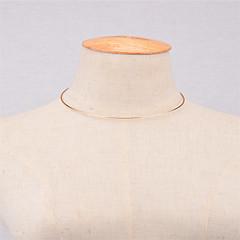 女性用 チョーカー ジュエリー 円形 銅 ベーシック ファッション あり 欧米の シンプルなスタイル コスチュームジュエリー ジュエリー 用途 パーティー 日常 カジュアル