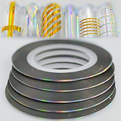 billige Negleklistremerker-100 Glitter & Poudre Folie Stripping Tape Mote Daglig Høy kvalitet