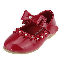 levne Svatební boty-Dívčí Boty Koženka Jaro Pohodlné / Boty pro malé družičky Bez podpatku Mašle / Imitace perel / Aplikace pro Bílá / Černá / Červená