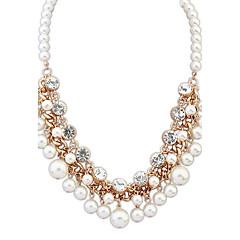 お買い得  ファッションネックレス-女性用 真珠 ストランドネックレス - オリジナル 欧米の ファッション その他 ホワイト ネックレス 用途 パーティー 贈り物