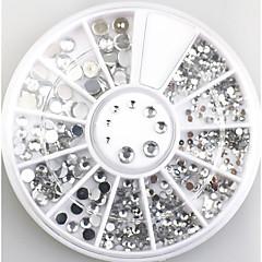 4size 3d çivi sanatı süslemeleri akrilik elmas şekiller elmas taşları çivi sanat aksesuarları