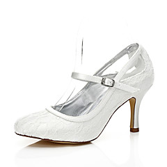 cheap Wedding Shoes-Women's Shoes Silk Spring Summer Comfort Club Shoes Dyeable Shoes Wedding Shoes Stiletto Heel Peep Toe Round Toe Open Toe for Wedding
