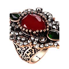 billige Motering-Dame Statement Ring Ring - Glass, Legering Statement, Personalisert, Luksus 7 / 8 / 9 / 10 Rød / Grønn / Blå Til Fest jubileum Bursdag