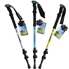 3 Bengalas para Caminhar Nórdicas 135 centímetros (53 polegadas) Húmido Dobrável Peso Leve Ajustável Fibra de Carbono Acampar e Caminhar