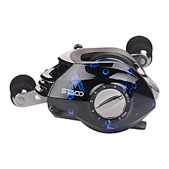 Hiumi Baitcasting Fishing Reel 131 Ball Bearings Casting Reel Magnetic Braking System Baitcaster with Stainless Ball Bearings Reel