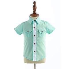 tanie Odzież dla chłopców-Brzdąc Dla chłopców Jendolity kolor Krótki rękaw Bawełna Koszula