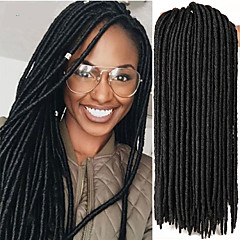 cheap Hair Extensions-Braiding Hair Crochet / Havana Dreadlocks / Faux Locs 100% kanekalon hair / Kanekalon 24 roots / pack Hair Braids Soft / Dreadlock Extensions / Dreads Locs