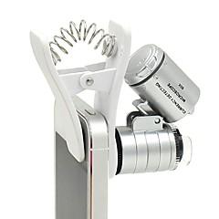 60x Zoom führte Clip-Typ Lupe Mikroskop Schmuck Lupe Schmuck Lupe Lupe Mikro-Objektiv für universelle Handys