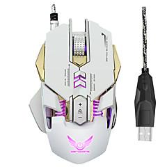 7 כפתורים הוביל עכבר מכני חוטית 3200dpi USB עכבר אופטי מחשב משחקים עכבר מחשב גיימר עבור ציוד היקפי למחשב נייד