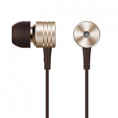 billiga Headsets och hörlurar-Xiaomi I öra Kabel Hörlurar Aluminum Alloy Mobiltelefon Hörlur Ljudisolerande / mikrofon / Med volymkontroll headset