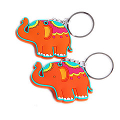 cheap Keychain Favors-Lucky in Love Elephant Rubber Key Chain Beter Gifts® Baby Baptism Giveaways