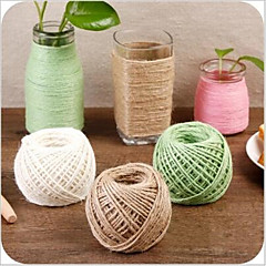 Manual Material Stitched Household Color Bind Rope Retro DIY Photo Wall Decoration Rope Weaving Fine Linen