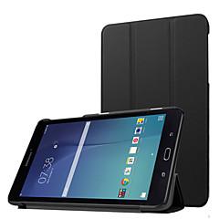 billige Nettbrettetuier-Etui Til Samsung Galaxy Heldekkende etui Tablet Cases Helfarge Hard PU Leather til Tab E 8.0