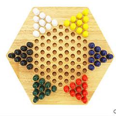 tanie Gra w szachy-MWSJ Szachy Zabawki Halma Puzzle i układanki Zabawki Okrągły Drewniany Sztuk Dla dzieci Dla obu płci Prezent
