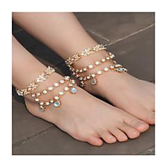 tanie Piercing-Damskie Łańcuszek na kostkę / Bransoletki Imitacja pereł Kryształ górski Stop Modny Sandały Barefoot Bowknot Shape Biżuteria Na Codzienny