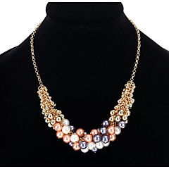 Pendant Necklaces Chain Necklaces Women's  Euramerican Pearl Personalized Elegant Alloy Friendship Daily Party Thank You Movie Jewelry