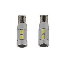 5W White Blue Red Yellow DC12V T10 Canbus 10LED SMD5630 LED Lens NO Error  Inspection Lamp Reading Light 2PCS