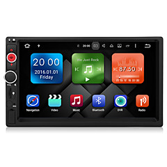 cheap -Android 6.0 Car Multimedia Player System 7 Inch 2Din Quad Core No DVD 2GB RAM Wifi 3G Built in Ex-TV DAB DY7098-MG