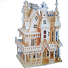 cheap -3D Puzzle Jigsaw Puzzle Wood Model Model Building Kit Castle Famous buildings Wood Natural Wood Adults' Unisex Gift