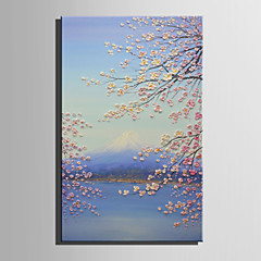 cheap Wall Art-Print Stretched Canvas - Floral / Botanical Retro