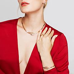 Dámské Sady šperků Náušnice Náramek Prsten Jedinečný design Party Základní Řetízek Módní Evropský minimalistický styl Párty Zvláštní