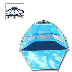 billige Telt og ly-3-4 personer Telt Strandtelt Utendørs Regn-sikker, Camping & Fjellvandring, Ultraviolet Motstandsdyktig Med enkelt lag camping Tent 1000-1500 mm til Camping & Fjellvandring Polyester Taft