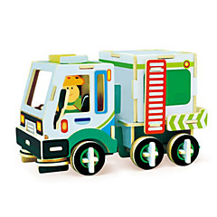 cheap -Robotime Toy Car 3D Puzzles Jigsaw Puzzle Wood Model Truck 3D DIY Wood Classic Construction Vehicle Unisex Gift