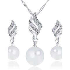 baratos Conjuntos de Bijuteria-Mulheres Conjunto de jóias - Básico Incluir Dourado / Prata Para Casamento Festa Aniversário