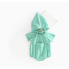 billige Babyoverdele-Baby Børne Bluse Stribe Stribet Grøn Rød Lyserød