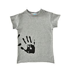 Χαμηλού Κόστους Μπλουζάκια για αγόρια-Αγορίστικα Κοντομάνικο Βαμβάκι Καλοκαίρι Κοντομάνικο Λευκό Μαύρο Γκρίζο