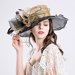 Feather Silk Organza Fascinators Hats Headpiece