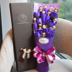 お買い得  パーティー用品-紫色の花の子供の誕生日の贈り物エレガントなスタイルと12の素敵な人形