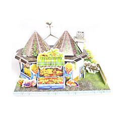 billige Puslespill i tre-3D-puslespill Puslespill Papirmodell Modellsett Hus Arkitektur Frukt 3D GDS Høy kvalitet papir Klassisk Jente Gutt Unisex Gave