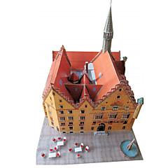 お買い得  3Dパズル-3Dパズル ペーパーモデル ペーパークラフト モデル作成キット 有名建造物 DIY クラシック 男女兼用 ギフト