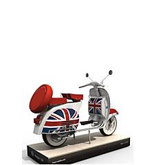 voordelige -Speelgoedauto's 3D-puzzels Bouwplaat Moto Simulatie DHZ Hard Kaart Paper Klassiek Motorfietsen Kinderen Unisex Geschenk