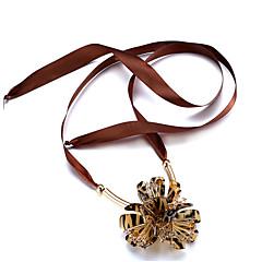 Χαμηλού Κόστους Φλοράλ κοσμήματα-Γυναικεία Κρυστάλλινο Μακρύ / Crossover Κολιέ Τσόκερ - Κρύσταλλο Φίλοι, Καρδιά, Λουλούδι Φύση, Πανκ, Γκόθικ Μαύρο, Καφέ Κολιέ Για Γραφείο / Καριέρα, Causal, Βραδινό Πάρτυ