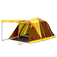 GAZELLE OUTDOORS 3-4 Persoons Tent Dubbel Kampeer tent Eèn Kamer Opgevouwen Tent Regenbestendig Tent voor Kamperen Teryleen Oxford PU CM