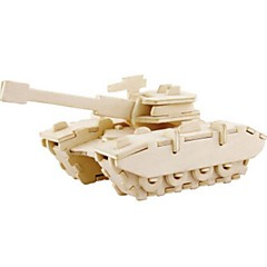 baratos -Robotime Quebra-Cabeças 3D Quebra-Cabeça Modelos de madeira Tanque Leão Faça Você Mesmo Madeira Madeira Natural Crianças Unisexo Dom