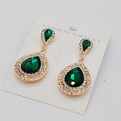 Women's Drop Earrings Rhinestone Fashion Euramerican Costume Jewelry Alloy Teardrop Jewelry For Party