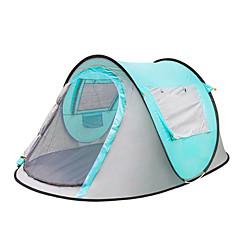 billige Telt og ly-3-4 personer Telt Enkelt camping Tent Ett Rom Pop opp telt Varm Vanntett Regn-sikker Telt Solbeskyttelse til Camping & Fjellvandring