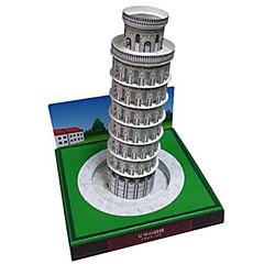 tanie Gry i puzzle-Zabawki 3D / Papierowy model / Model Bina Kitleri Wieża / Znane budynki / Krzywa wieża w Pizie majsterkowanie Twardy papier kartkowy Klasyczny Dla dzieci Dla obu płci Prezent