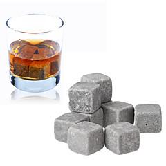 cheap Barware-9pcs Set Whisky Stones Ice Cube Wine Champagne Rock Cooler Bar