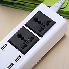Multifunkční usb plug-in zabezpečení inteligentní usb plug-in mobilní zásuvná zásuvka 2 zásuvky a 4 usb porty