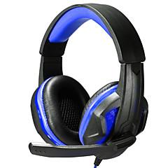 billiga Headsets och hörlurar-Över örat / Headband Kabel Hörlurar Plast Spel Hörlur Med volymkontroll / mikrofon / Ljudisolerande headset